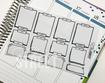 Sticky Note Sampler | Hand Drawn Stickers | Planner Stickers