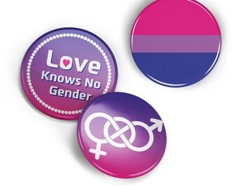 Bisexual pride pin button set, Bisexual pin badge, Bisexual pin, LGBTQ pin, cool bag decoration, Bisexual decoration, bi flag, LGBTQ flag