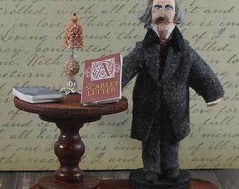 Nathaniel Hawthorne American Writer Miniature Diorama Classic Literature Art