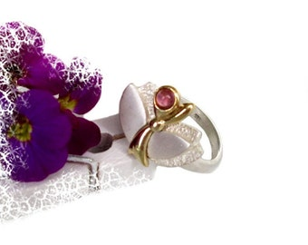 Gemstone ring silver, Ruby, Gr. 54, sterling silver ring, prescious Stonde Ruby US size 6.8 UK size N