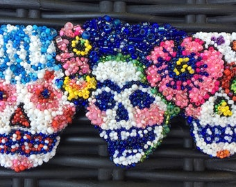 Beaded Skull Trio