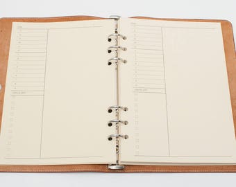 Printed A5 Half Letter Size Daily Schedule Journal Planner Inserts[B002]