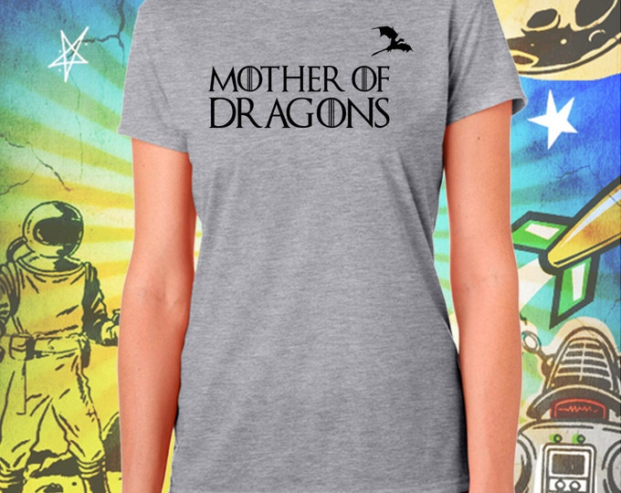 Game of Thrones / Classic Mother of Dragons / Women's Gray Performance T-Shirt