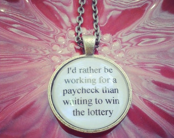 bright eyes lyric quote necklace- this is the first day of my life- love song quote lyric necklace