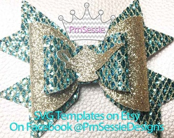 Digital SVG, DXF Jasmine Inspired Bow Template