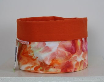 Handcrafted Fabric Bucket - Orange