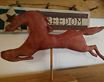 Primitive Decor, Primitive Horse, Weathervane Horse, Primitive Doll, Americana Decor, Barn Red Horse Decor, Home Decor, MADE TO ORDER
