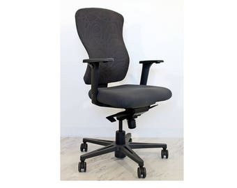 Mid Century Modern High Back Swivel Rolling Office Chair Sguig Syncro Keilhauer