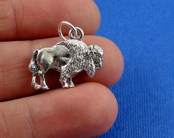 Buffalo Charm - Silver Buffalo Charm for Necklace or Bracelet