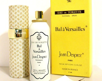 Vintage 1980s Bal a Versailles by Jean Desprez 5.5 oz Eau de Toilette Refillable Natural Spray in Box  PERFUME