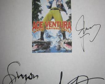 Ace Ventura When Nature Calls Signed Film Movie Screenplay Script X5 Autograph Jim Carrey Ian McNeice Simon Callow Bob Gunton Tommy Davidson