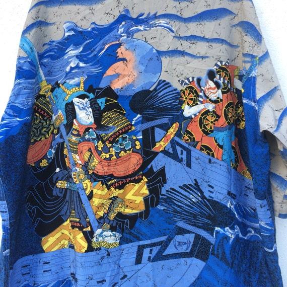 Vintage Rare Phat Farm Yakuza Fullprint Polo Shirt IxVHOP ...