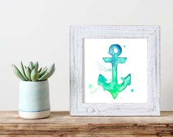 Anchor Watercolor Print