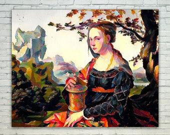 Mary Magdalene,Mary Magdalene Print,Mary Magdalene Poster,Mary Magdalene Canvas,Mary Magdalene Wall Art,Mary Magdalene Art,Gift