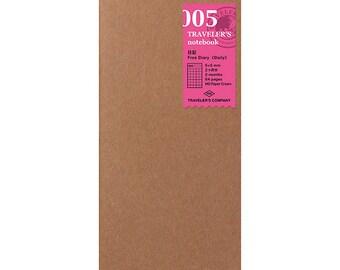 TN Refill - Regular Size - 005 Free Diary <Daily>