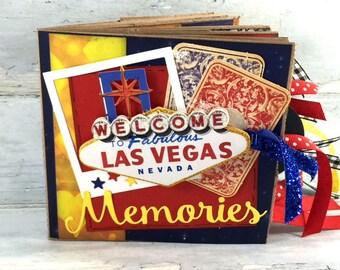 Las Vegas Scrapbook - Mini Las Vegas Travel Vacation Scrapbook - Las Vegas Paper Bag Album