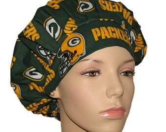 Scrub Hats - Green Bay Packers Fabric