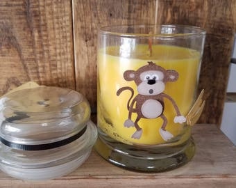 Monkey Fart Scented Jar Candle with Lid
