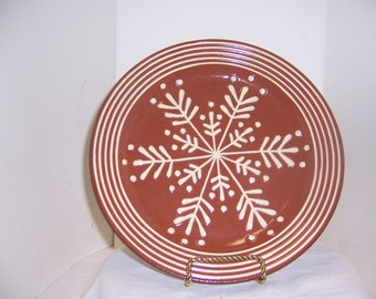REDWARE FEATHER PLATE