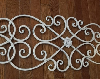 Metal Wall Art, Shabby Chic Home Decor, Metal Wall Decor, Distressed Metal  Wall