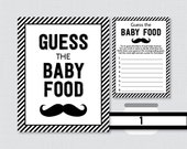 Mustache Baby Shower Gues...