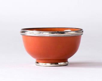 Small bowl with metal edge m Ø 11 CM Orange