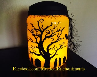 Halloween Lantern Haunted Cemetry Halloween Luminary