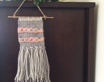 Mini Woven Wallhanging, Weaving Wallhanging, Tapestry, Handmade
