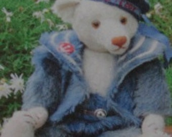"""PDF Pattern for Sailor outfit Hampton Bears  to fit 17"""" vintage style artist bear instant download"""