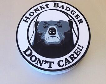 Honey Badger Bumper Sticker - vinyl decal 4x4