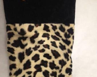 Leopard Christmas stocking