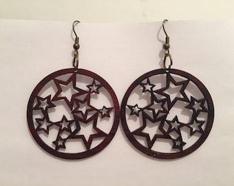 Wooden handmade Mexican earrings