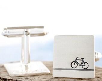 Bike cufflinks | Hidden message cufflinks | Bicycle cufflinks | Cycling cufflink | Cyclist gift | Personalised cufflinks | Fathers day gift