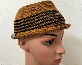 Trilby hat size 54cm rust/black