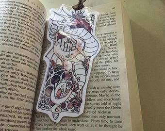 Celtic Style Dragon Bookmark