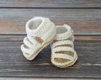 Newborn Baby Sandals - Baby Girl Strappy Sandals - Crochet Baby Girl Sandals - Baby Shower Gift  - Infant Girl Shoes