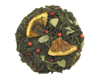 Green tea - Almond and Orange - Winter Pine - Loose leaf tea - 2 or 4 oz