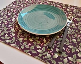Lavender Placemats, Handmade Placemats, Set of 4 Placemats, Purple Placemats