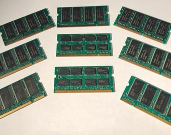 9 Sticks of laptop ram circuit boards for crafting!