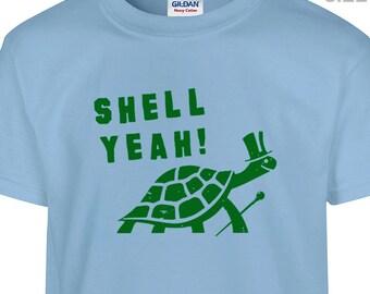 YOUTH / KIDS Shell Yeah T Shirt Funny Kids Shirt Kids Turtle Shirt Childrens Funny Shirt Funny Youth Shirt