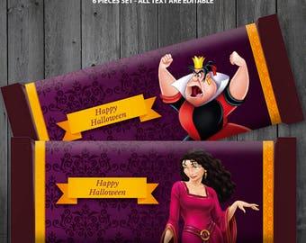 Disney Villains Chocolate Bar Wrapper