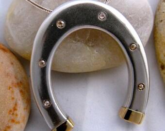 Horse Shoe with Diamonds