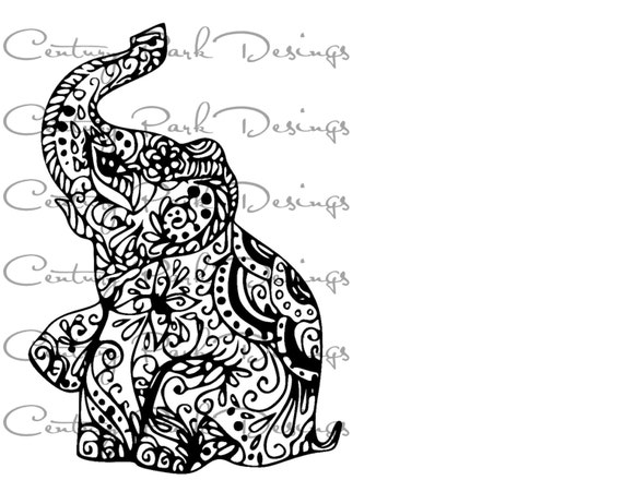 Elephant 002 mandala SVG / JPEG / PNG /pdf / use with