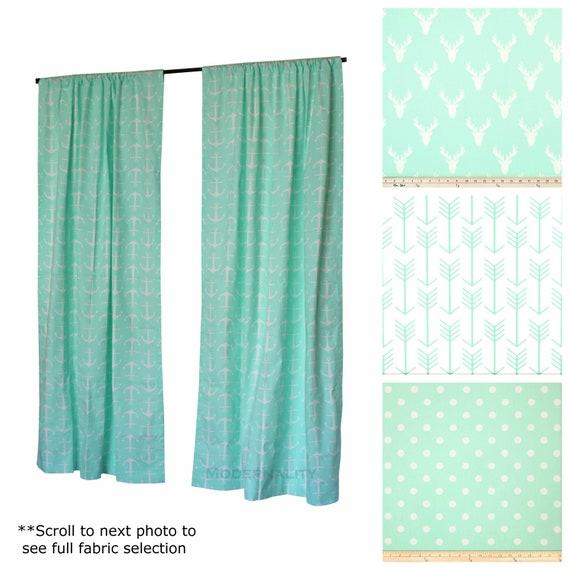 Window Curtains Drapery Panel Mint Green Drapes