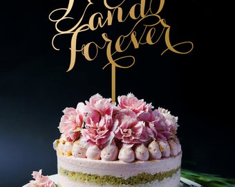 Always and Forever Wedding Cake Topper, Anniversary Cake Topper, Keepsake Cake Toppers for Wedding and Anniversary A2072