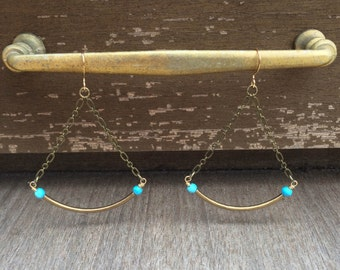 Turquoise Trapeze Earrings