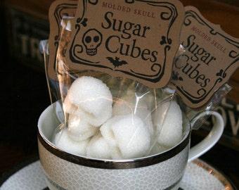 SKULL SUGAR CUBES - 6 Bags of Four Skulls make the perfect Christmas Gift //  Stocking Stuffer // Secret Santa // sugar skull gift