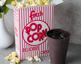 25 Retro Popcorn Boxes,  Movie night fun