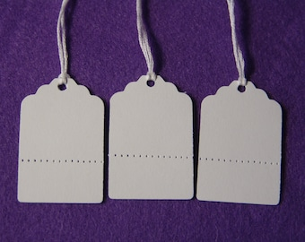 30 Price Tags with Perforated Bottoms, Tear off Section, Price Tags, Craft Show Tags, Inventory Tags, Garage Sale Tags,