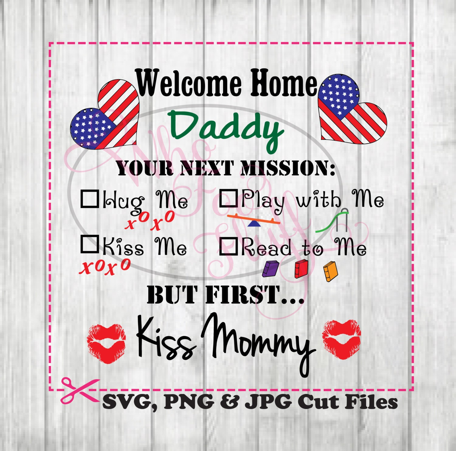 Military Welcome Home Daddy Clipart deployment SVG, DIY poster ...